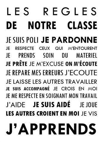 Les règles de notre classe – Lili Tire-Bouton