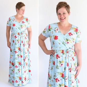 The wrap top maxi dress sewing pattern + tutorial