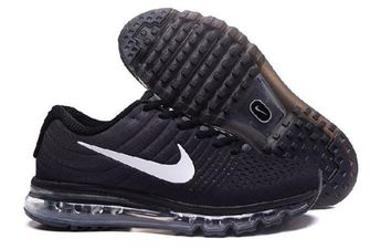 1a5624d255267 Nike Air Max 2017 Black Light Grey White Sneakers by Melena Marcos