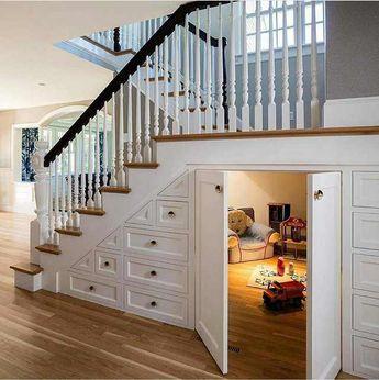 Hidden Playroom underneath the stairs.