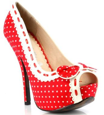 Fashion Style Board - Hot Red Pin-Up Rockabilly