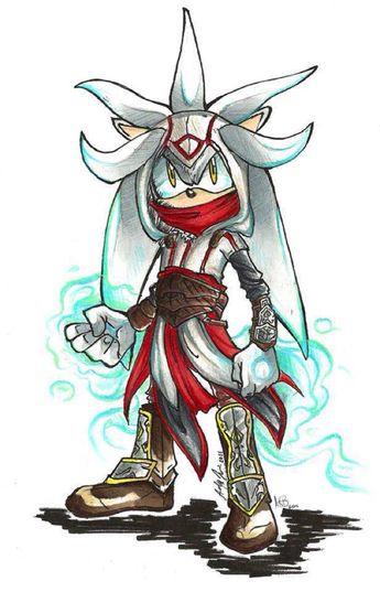 Silver the hedgehog as a Assassin! *^* I want to play this now. Strangling with Psychokinesis would be so fun. I want this game now *^*.SEGA MAKE THIS GAME OR YOUR BLOODY DEAD!!!! (I wont actually kill you SEGA but plz.)