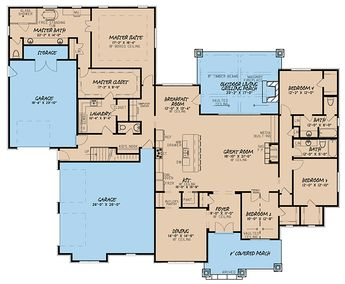 European Traditional House Plan 82422 Level One
