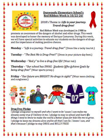 Red Ribbon Week Is A Nation Wide Event Create To Promote D