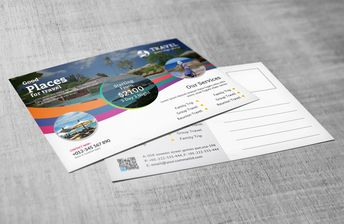 Travel Postcard Design 002755 - Template Catalog