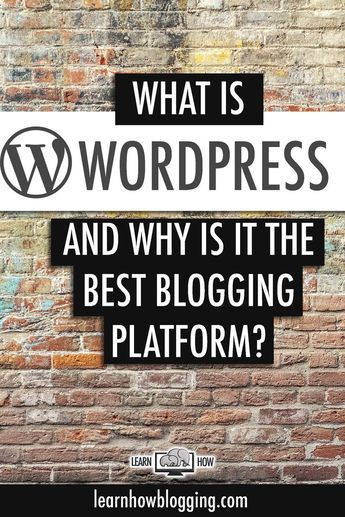 What is WordPress and why is it the best blogging platform today? WordPress is a CMS used to create blogs and websites.  Many of the biggest brand names in the world like Disney, ESPN, Facebook, LinkedIn, and more build their websites on WordPress.  WordP