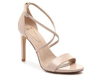 1582ff78f4ea Women Zaydia Sandal -White Faux Patent Leather