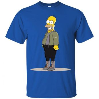 3c86dc4fa54ea Homer Simpson Hypebeast Camo Yeeze Boost Classic T-Shirt - Shop Adidasx  Simpson Fans