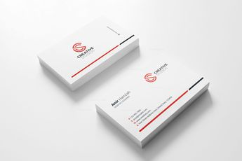 Creative Agency Business Card Design Template - Graphic Templates