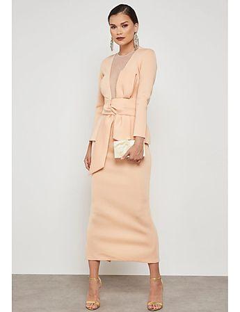 Women's Plus Size Party / Work Street chic / Sophisticated Maxi Slim Bodycon / Sheath / Two Piece Dress - Solid Colored Mesh High Waist Summer Black Pink XL XXL XXXL / Sexy