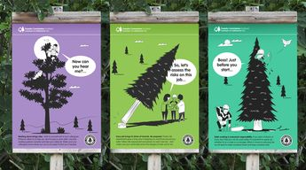 Internal Communications Posters – Edinburgh Forestry Commission