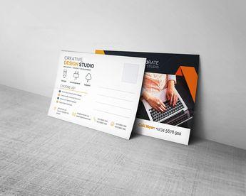 Corporate Postcard Template - Graphic Templates