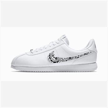 7d21de26 Bandana Fever Black Bandana Print Custom White Nike Cortez Shoes
