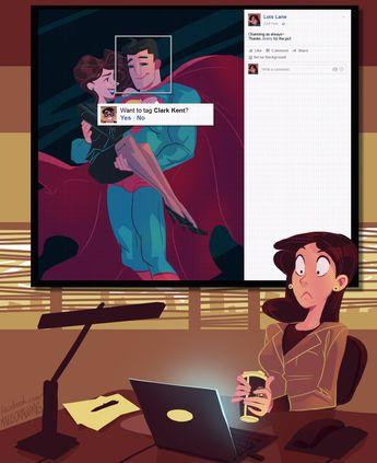 Lois Lane sur Facebook