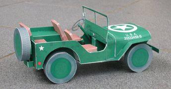 Jeep Willys en Papercraft