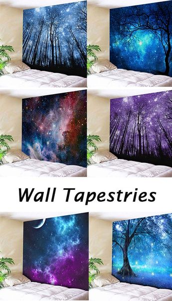 home decor ideas:Galaxy Print Tapestry