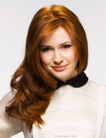 Karen Gillan. She had such gorgeous hair! I hope it grows back quickly