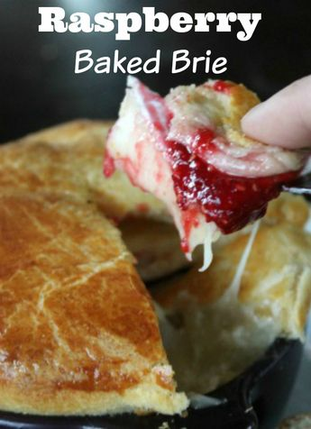 Quick and easy raspberry baked brie - made with @pillsbury crescent rolls - a perfect appetizer for the holidays. 3 ingredients and assembled in 3 minutes!
