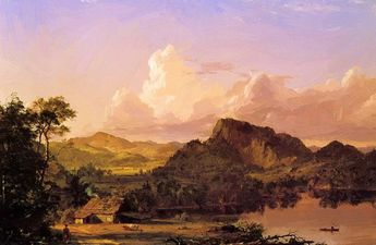 Home By The Lake 1852 Art Print by Church Frederic Edwin