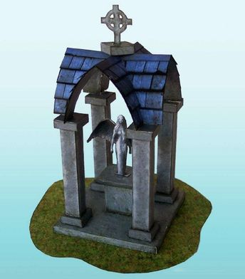 PAPERMAU: The Mausoleum Paper Model For Dioramas, RPG & Wargamesby Odissey Paper Models