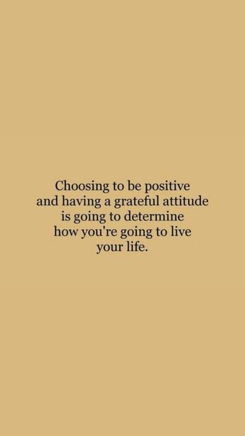 choose to be positive