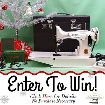 GIVEAWAY December 2018! Blackside, Custom-Painted Singer Featherweight