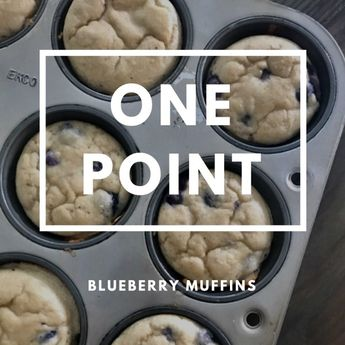 One Point Blueberry Muffins  1 pt- Use raspberries instead and can use additional 1/4 c of Kodiak in place of protein powder