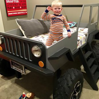 Jeep Bed Plans Twin Size Car Bed by JeepBed on Etsy