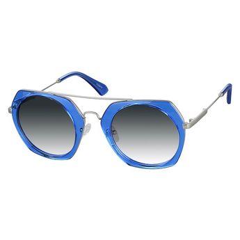 1497c172f5 Zenni Womens Geometric Rx Sunglasses Blue Mixed Materials 1133016