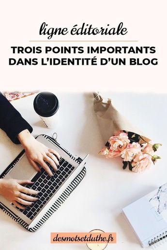 Voici trois points importants pour la ligne éditoriale d'un blog pro et l'identité d'un blog.