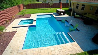 Image result for Pool Designs with Sun Shelf