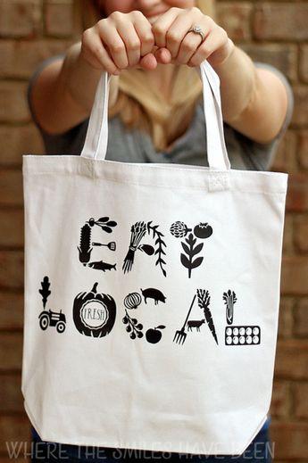 DIY Farmers' Market Tote Bag: Eat Local!