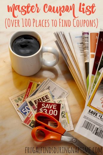 Over 100 Places to Find Coupons