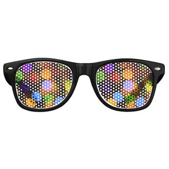 9c4f37687520d Retro Sunglasses. Holiday design. Colourful defocused Christmas Garland.  Beautiful photography bokeh. The
