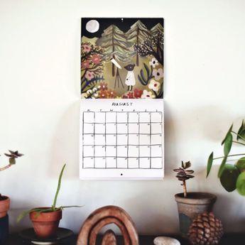 12 geïllustreerde kalenders voor 2019
