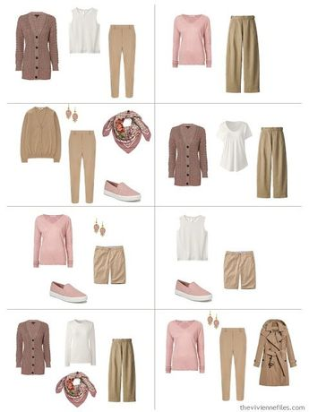 A French 5-Piece Wardrobe in Ash Rose (with Camel and Ivory!)