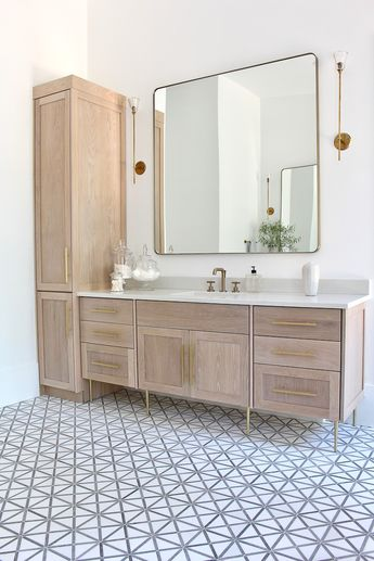 The Forest Modern: Modern Vintage Master Bathroom Reveal!