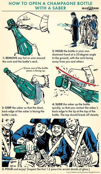 How to Open a Champagne Bottle With a Saber