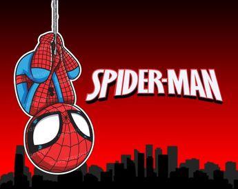 Spiderman - Clipart, Sticker, Avengers, Marvel, Superhero, Illustration, Chibi, , Superheroes, Comics (Printable)