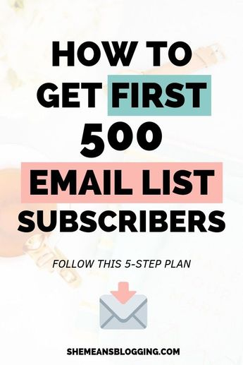 5 step plan to get 500 email list subscribers quickly