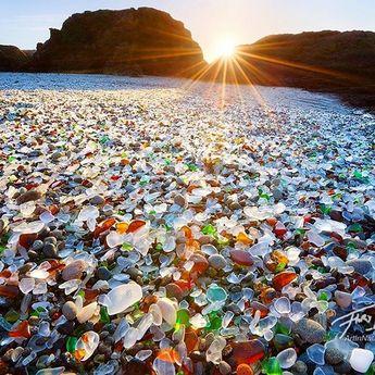 Glass Beach, Fort Bragg, California Photo by ©Floris Van Breugel #WildlifePlanet