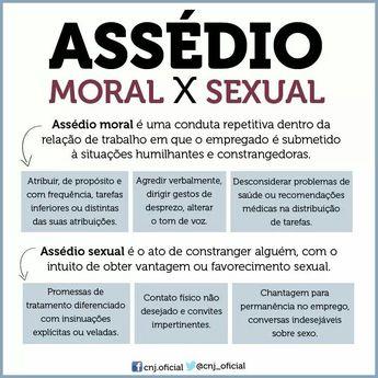 Assédio Moral x Sexual