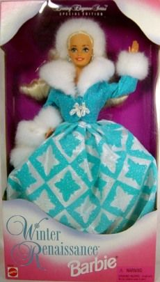 Winter Renaissance Barbie, 1996.  bought for my niece in 2012 (this is so that I don't forget which ones she already has!