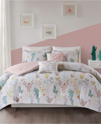 Desert Bloom 4-Pc. Twin/Twin XL Cotton Coverlet Set