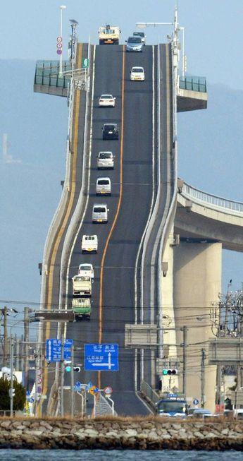 Eshima Ohashi bridge: This bridge in Japan is like something out of Mario Kart