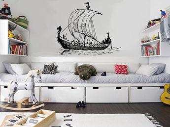 Viking Ship - uBer Decals Wall Decal Vinyl Decor Art Sticker Removable Mural Modern A165