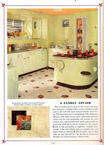 Your Dream Kitchen 1939 - check out the stainless countertop with integrated sink.