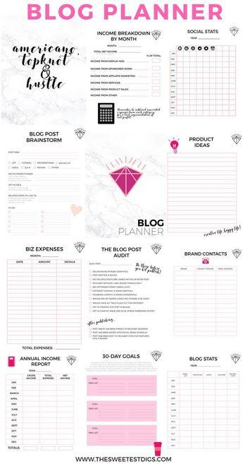 Blog Planner - Gemma Bonham-Carter