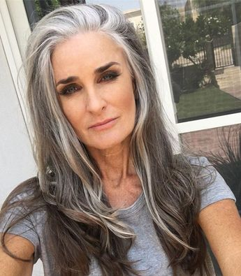 Makeup thought of the day. Like boobs OR legs I was taught eyes OR lips; never both. Is this a generation thing? #mygeneration #hair #gray #hair