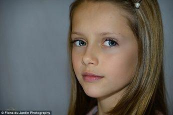 Ten-year-old Elizabeth Hiley looks like controversial fashion star Kristina Pimenova